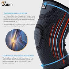 Powerlix Compression Knee Sleeve Sizing Chart Jbm Adult Gym Knee Brace Support Compression Sleeve Patella