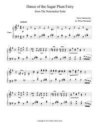 dance of the sugar plum fairy sheet music dance of the sugar plum fairy advanced piano sheet music