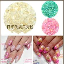 12 Colors/set Crushed Shell Chips Powder For Nails UV Acrylic ...