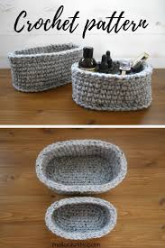Free Crochet Basket Patterns Delectable How To Make Your Own Oval Baskets Free Pattern Mallooknits
