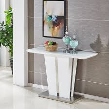 memphis console table in white high