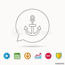 Anchor Icon Nautical Drogue Sign Sea And Sailing Symbol