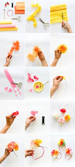 Paper Flower Headbands Diy Tissue Paper Flower Headband Diy Diy Headband Paper Flowers