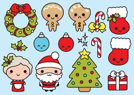 Premium Vector Clipart Kawaii Christmas Cute Chrismas