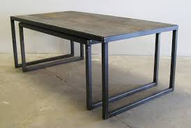 Steel Coffee Table Frame Charming Steel Top Coffee Table In Home Interior Redesign