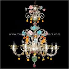 tripudio murano glass chandelier