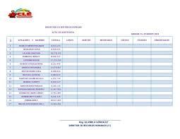 Formato De Asistencia Del Personal Formato De Asistencia Semanal Del Personal