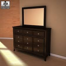 ashley martini suite dresser mirror 3d model max obj 3ds fbx mtl 1