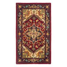 safavieh hg625a heritage area rug red