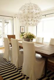beachy living and dining room reveal dining room chair coversdining chair slipcoversikea