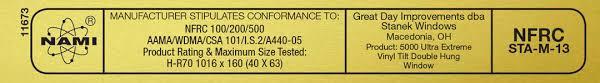 Energy Testing Data Ratings Windows Efficient amp; Window