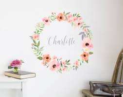 flower name wreath decal iv on wall art decals nz with flower name wreath decal iv your decal shop nz designer wall art