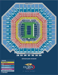 Us Open Arthur Ashe Seating Chart Seating Maps Open Tennis