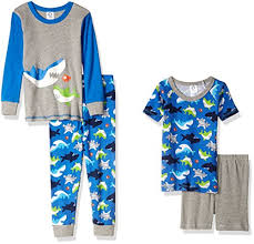 top best baby pajamas for boys baby best stuff gerber boys 4 piece pajama set shark 18 months