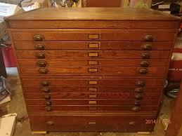 set cabinet full mini summer: antique oak architect blueprint flat file cabinet incline tabletop map art photo