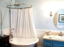 clawfoot tub shower curtain oval shower curtain rod for tub with awesome round tub shower curtain