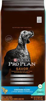 Purina Pro Plan Puppy Large Breed Feeding Chart Purina Pro Plan Savor Adult Shredded Blend With Probiotics Large Breed Formula Dry Dog Food 34 Lb Bag