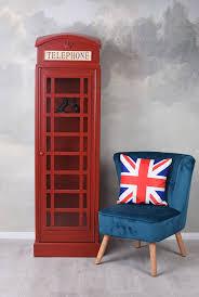 Grosse Vitrine Englische Telefonzelle Rot Schrank Barschrank