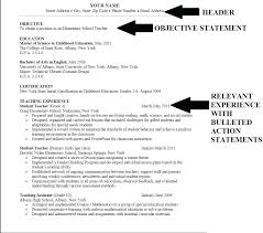 Sample Of College Resume Objective Resumes Examples Sample Resume