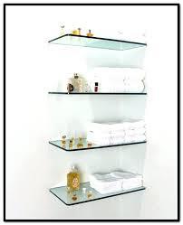 fancy glass floating shelf terrific glass floating shelves brackets for floating glass shelves home design ideas