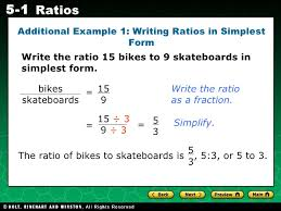 ratios in fraction form chapter5 1