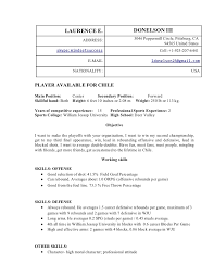 Beautiful Professional Basketball Player Resume Contemporary