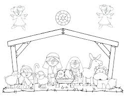 Nativity Coloring Pages Free Printable Alellajoveinfo