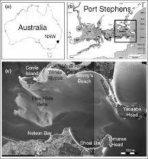 Tide Chart Port Stephens A Location Of Port Stephens Inside Australia B Map After