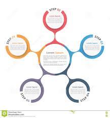 Circle Diagram Five Elements Stock Vector Illustration Of