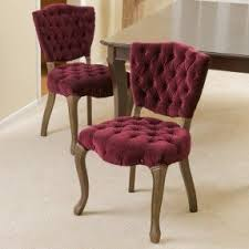 chair fabric. yates tufted fabric dining chairs (set of 2) chair e