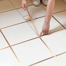 50m gold self adhesive tile sticker