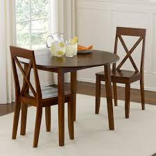 astounding brown round rustic wooden small dining table for 2 stained ideas