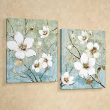 touch to zoom on canvas floral wall art with in bloom floral canvas wall art set