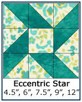 Free Quilt Block Patterns Library & ... Eccentric Star quilt block tutorial ... Adamdwight.com