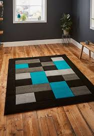 matrix mt04 rugs in black blue free uk delivery capitalrugsuk with regard to and turquoise rug ideas 14
