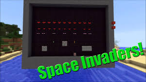 Space Invader Couch Space Invaders In Vanilla Minecraft Youtube