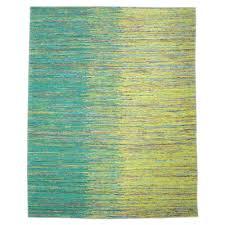 indian green yellow shade saree silk rug s2534 design 1857 size 6