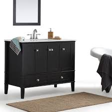 42 inch bathroom vanity top elegant wyndenhall windham black bath with white intended for 23