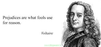 Quotes voltaire Prejudices are what fools use for reason Voltaire Quotes 52