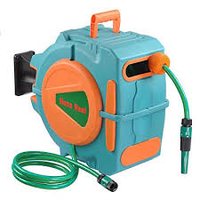 automatic garden hose reel.  Hose Yescom 65Ft Auto Rewind Garden Water Hose Reel Retractable Automatic Wall  Mount Outdoor Spray With B