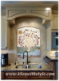 ceramic tile mosaic tree of life decorative handmade backsplash