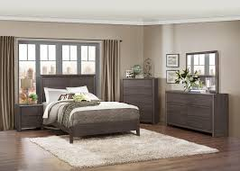 Small Picture Gray Wood Bedroom Furniture 4pc Poster Bedroom Set In Warm Gray