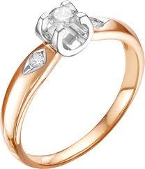 Золотое кольцо <b>Diamond Union 5</b>-<b>2541</b>-<b>103</b>-1K с бриллиантами ...