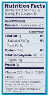 welch s mixed fruit fruit snacks nutrition facts