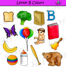 letter b objects english punctuation and view spelling clipart grammar book