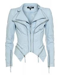 light blue 039 pulp 039 faux leather jacket
