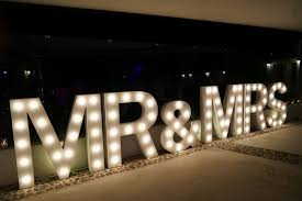 Giant Light Up Letters Light Up Your Wedding With Our Range Of Illuminated Props
