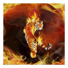 Fire tiger, Tiger painting, Tiger wallpaper