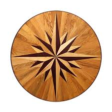 Wood Inlay Patterns Custom PID Floors 48848 In Thick X 4886 In Wide Circular Medallion Unfinished