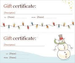 Microsoft Word Templates Gift Certificates Christmas Gift Certificate Template Microsoft Word Lazine Net